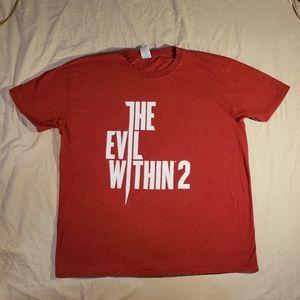 Evil Within Bethesda Mikami Rare Red Promo Shirt